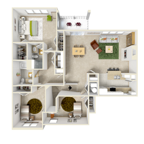 upper B three bedroom